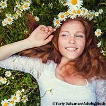À propos Strandmatte: Schönes Haar im Sommer